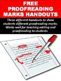 Proofreading Marks Handouts