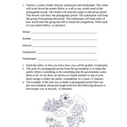 Propaganda Poster Activity Template and Rubric