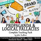 Propaganda and Logical Fallacies Vocabulary -Lesson, PPT,