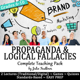 Propaganda and Logical Fallacies Vocabulary -Lesson, PPT,