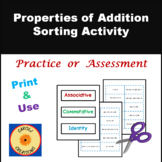 Properties of Addition Sorting Activity
