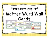Properties of Matter Vocabulary Word Wall Cards