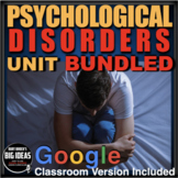 Psychology: Entire Disorders Unit - PPTs w/Video Links, Wo