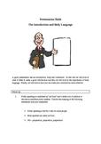 Public Speaking Basics . . Introduction and Body Language