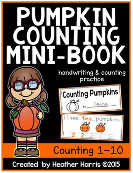Pumpkin Counting Mini-Book **FREEBIE**
