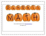 Pumpkin Math Center Activities!