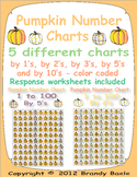 Pumpkin Number Charts - 1 to 100 - 5 different color coded