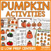 Pumpkin Patch Math and Literacy Work Stations