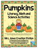 Pumpkins Literacy, Math and Science Activities