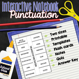 Punctuation Interactive Notebook Foldable (PLUS flash card