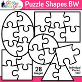 Puzzle Shapes Clip Art (Clipart) Line Art