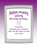 QR Code Literacy Center- Multiple Meaning Words