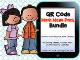 QR Code Math Centers First Grade