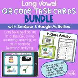 Long Vowel Bundle: QR Code Task Cards