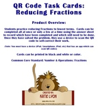 QR Code Task Cards: Reducing Fractions