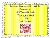 QR Codes Punctuation and Scrambled Sentences Treasure Hunt