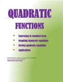 Quadratic Functions | Solving Equations + Applications
