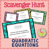 Quadratic Equations Scavenger Hunt Activity