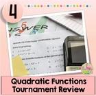 Quadratic Functions Tournament Review Activity