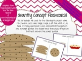 Quantity Concepts and Vocabulary Flash Cards - 48 Cards!
