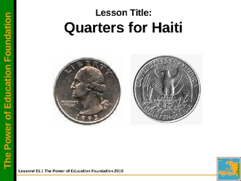 Quarters for Haiti-K-5 Math Lesson with a Life Lesson