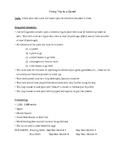 Quest Story Writing Assignment (Gilgamesh, Odyssey Unit)