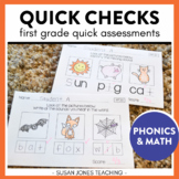 Quick Check Common Core Assessments for 1st Grade