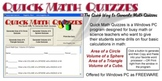 Quick Math Quizzes (Test Generator)