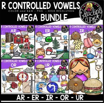 R Controlled Vowels Clip Art Mega Bundle