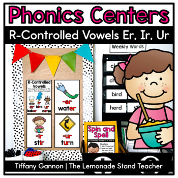 R-controlled vowels:  SUPER -er, -ir, and -ur Word Work Ac