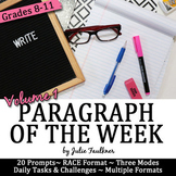 Weekly Short Writing Prompts with Stimuli, Full Semester,
