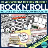 ROCK N ROLL Classroom Theme EDITABLE Decor 34 Printable Pr