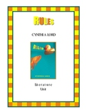 RULES by Cynthia Lord Literature Unit