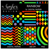 Rainbow {12x12 Digital Papers for Commercial Use}