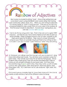 Rainbow Adjectives