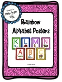 Rainbow Alphabet Posters Classroom Decor