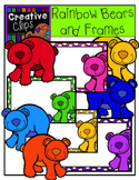 {FREE} Rainbow Bears and Frames {Creative Clips Digital Clipart}