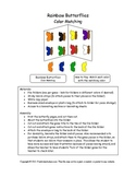 Rainbow Butterflies - Color Matching Folder Game