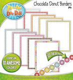 Rainbow Chocolate Donuts Borders — 10 Colorful Graphics!