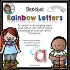 Rainbow Letters *Freebie* (emergent lower case letter formation)