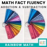 Rainbow Math: Addition and Subtraction Fact Fluency {A Fac