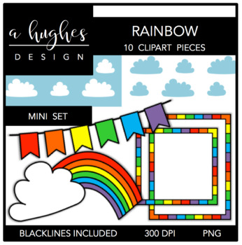 Rainbow Mini Set {Graphics for Commercial Use}