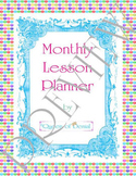Rainbow Polka Dot Monthly Lesson Planner PDF