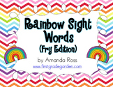 Rainbow Sight Word Cards {Fry Edition}
