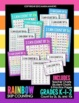 Differentiated Rainbow Skip Counting Charts & Practice Pages