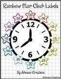 Rainbow Star Clock Labels