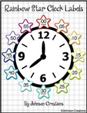Rainbow Star Clock Labels