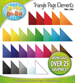 Rainbow Triangle Page Corner Elements Clipart — Over 25 Graphics!
