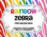 Rainbow Zebra Mini Decor Pack