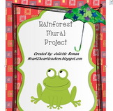 Rainforest Animal Mural Project with Rubric